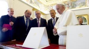 Juncker_Schulz_Tusk_Pope_EU_embassynews